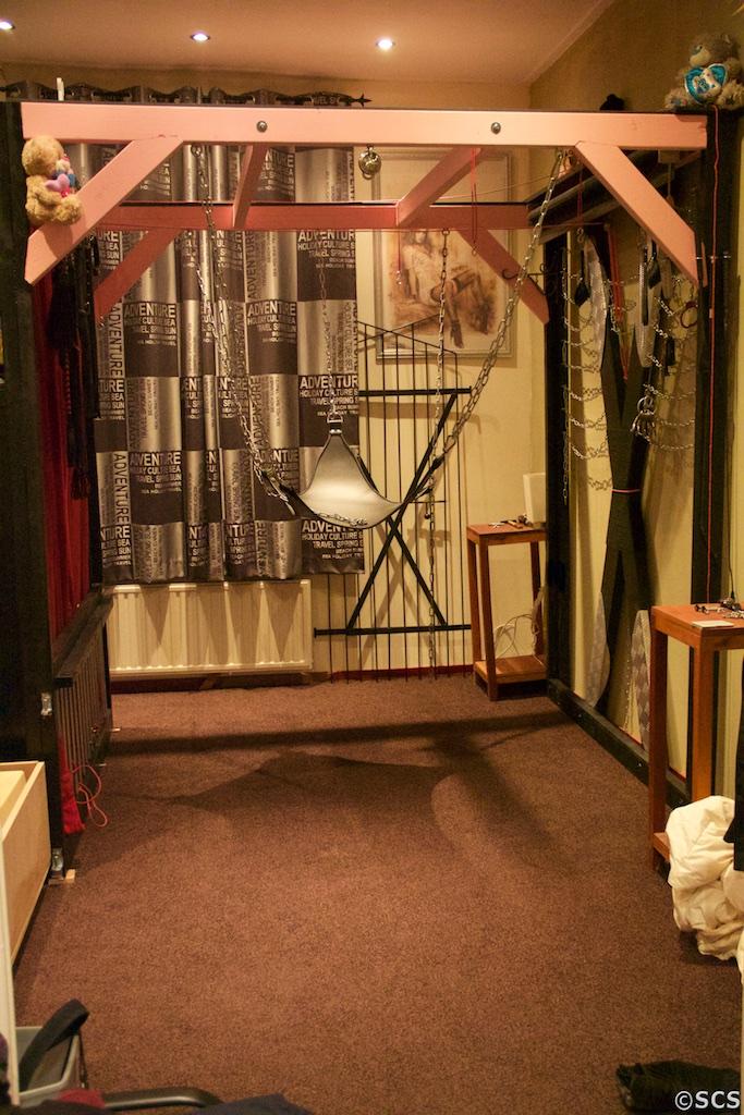 bdsm bed sling